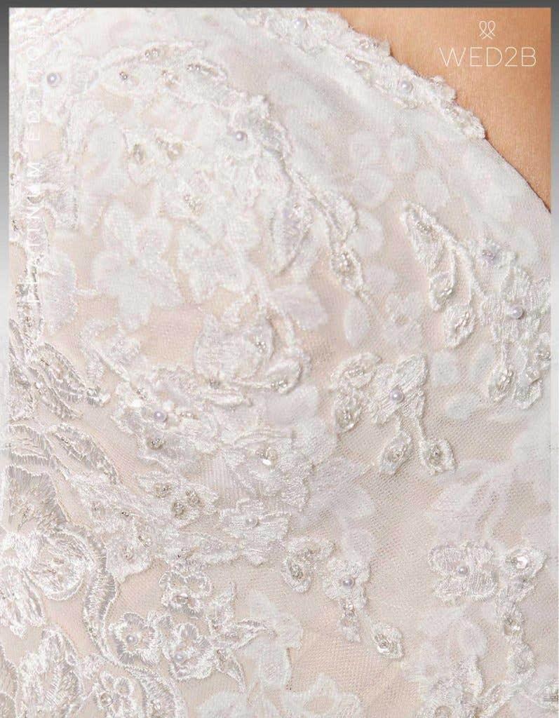 Detail crop view of Lexington Platinum Edition an exclusive wedding dress