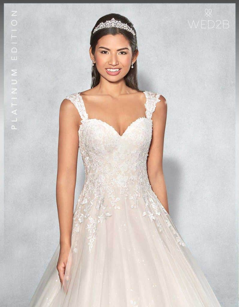 Front crop view of Lexington Platinum Edition an exclusive wedding dress