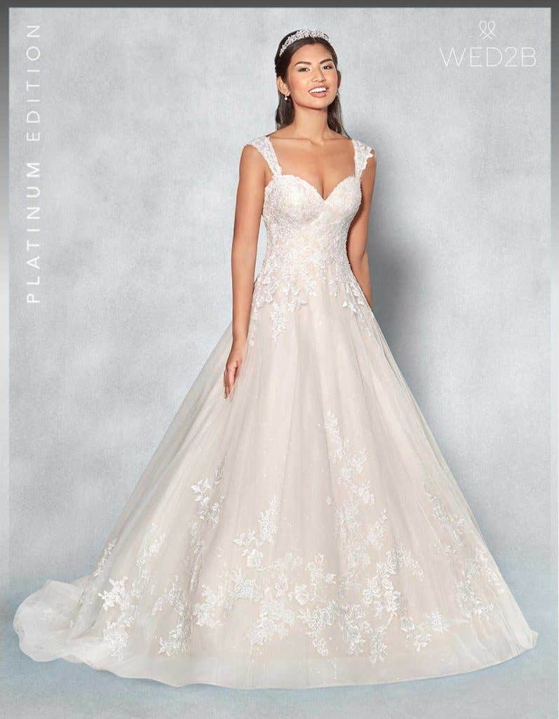 Front view of Lexington Platinum Edition an exclusive wedding dress