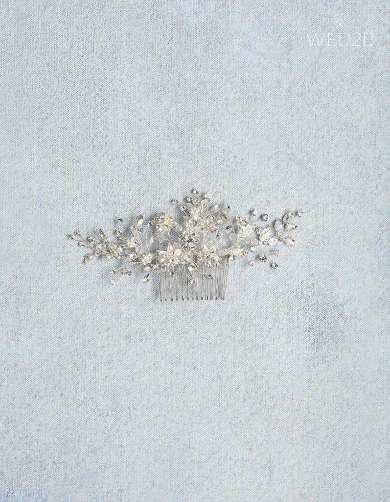 Silver Lorelei hair comb - bridal hair accessories