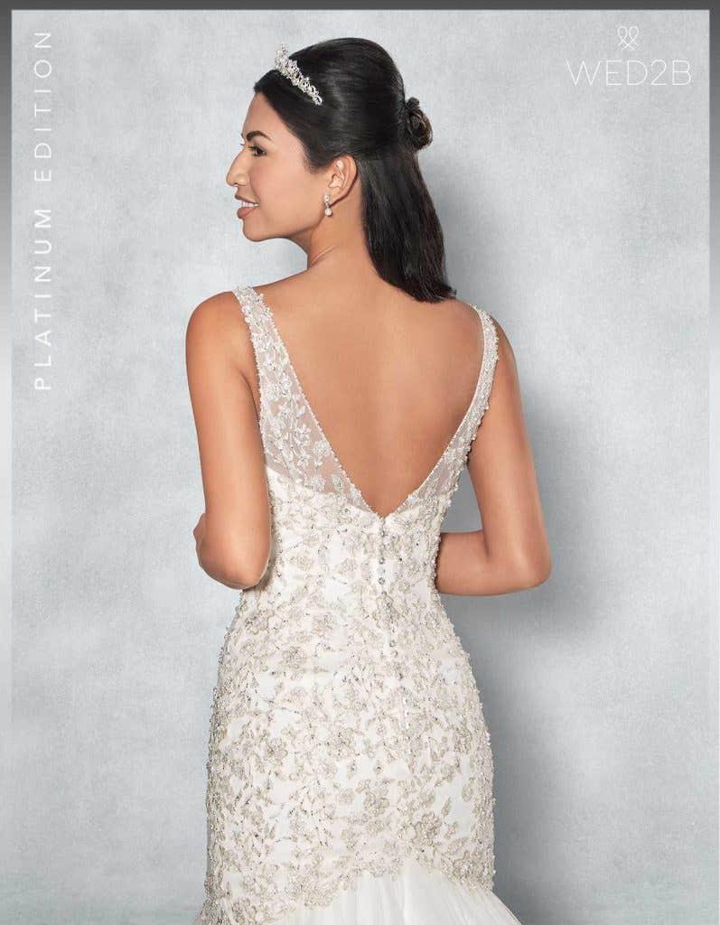 back crop view of Monique Platinum Edition an exclusive wedding dresses