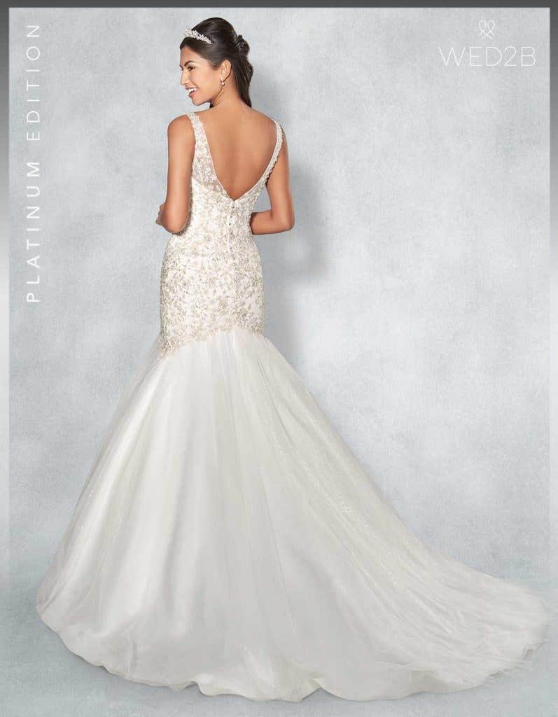back view of Monique Platinum Edition an exclusive wedding dresses