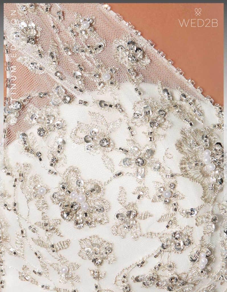 Detail crop view of Monique Platinum Edition an exclusive wedding dresses
