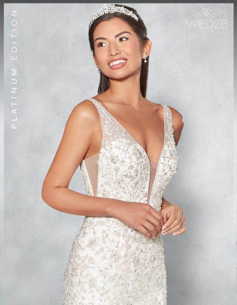 front crop view of Monique Platinum Edition an exclusive wedding dresses