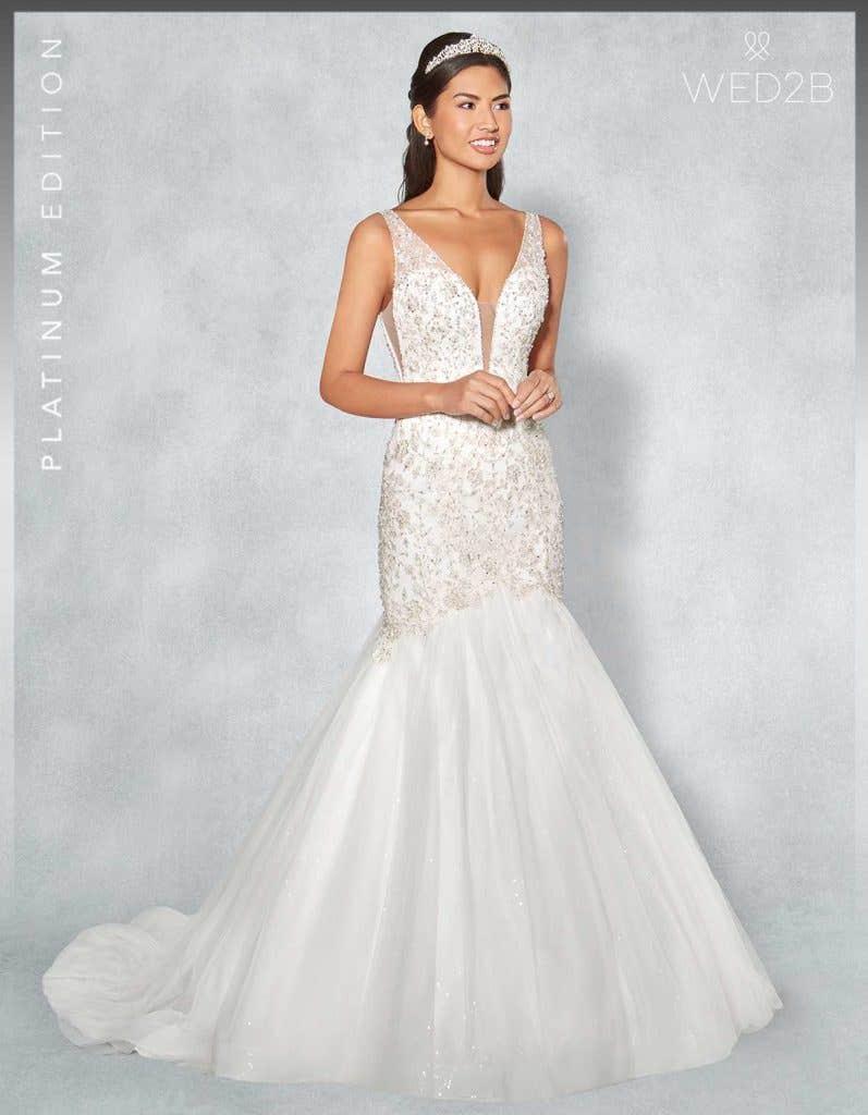 Front view of Monique Platinum Edition an exclusive wedding dresses