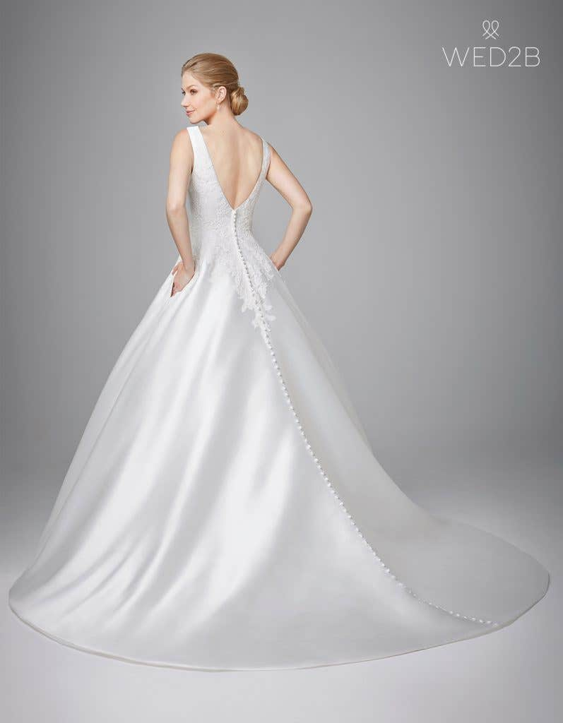 Back view of Phillipa, a princess wedding dress