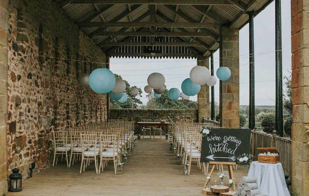 DIY bride Elizabeth and husband Conor's open air wedding venue