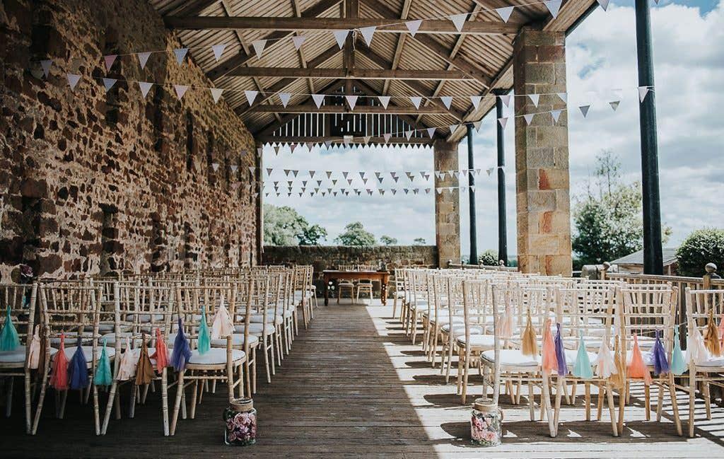 Victoria and Stuart's outdoor wedding venue