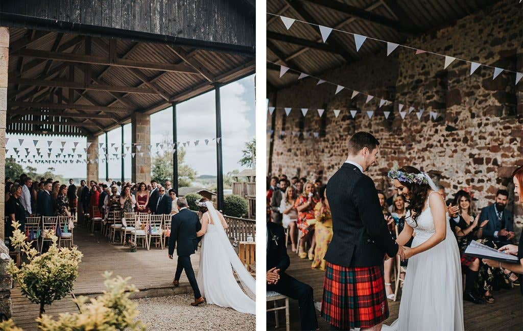 Victoria and Stuart's getting married in their outdoor wedding venue