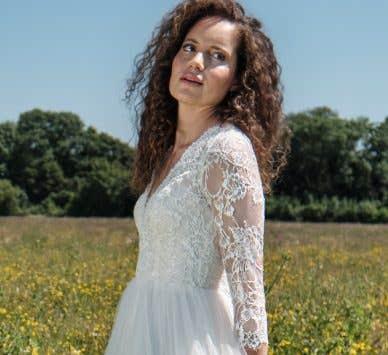 Fall in love with a beautiful boho wedding dress