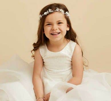 Discover our super cute ivory flower girl dresses