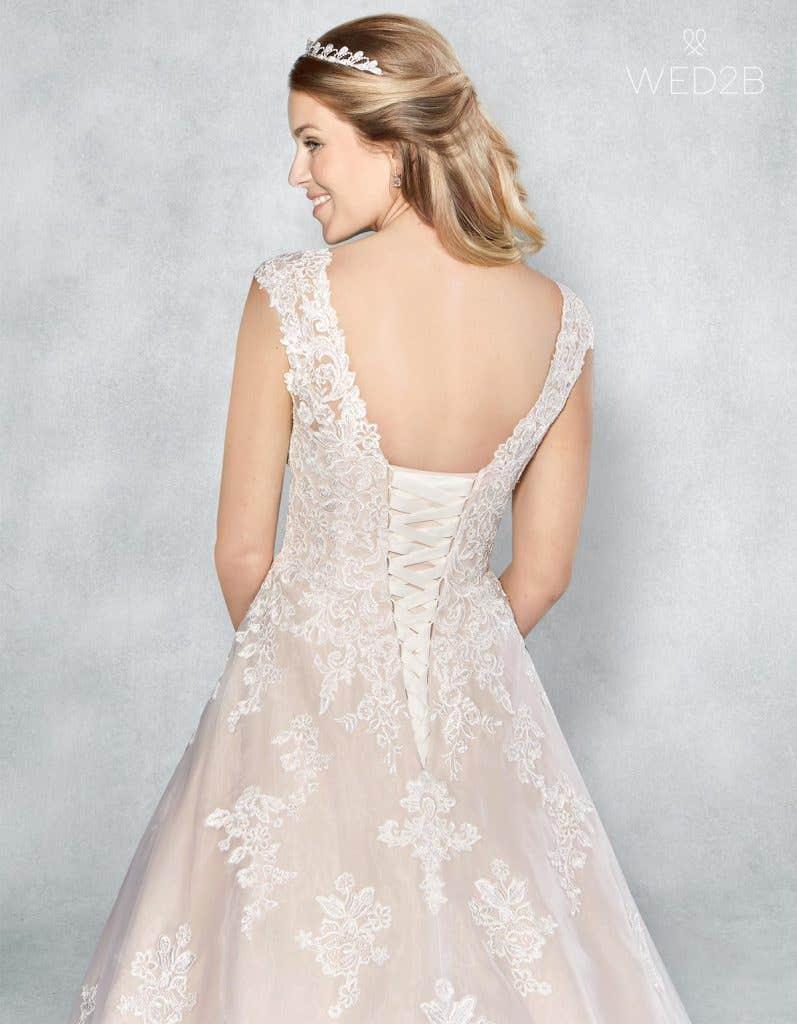 Close-up back shot of bridal dresses Liana