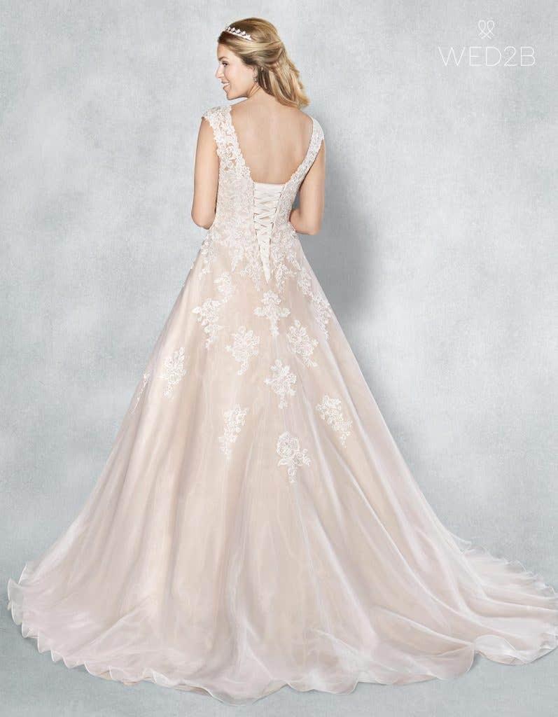 Full back shot of bridal dresses Liana