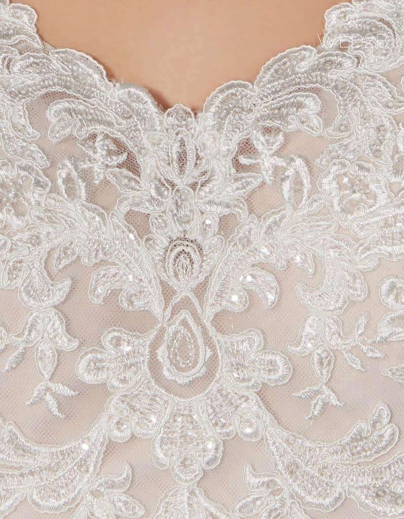 Detail shot of bridal dresses Liana
