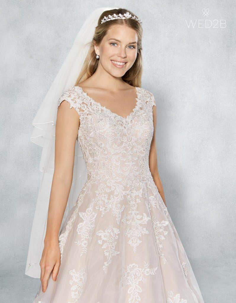 Close-up front shot of bridal dresses Liana