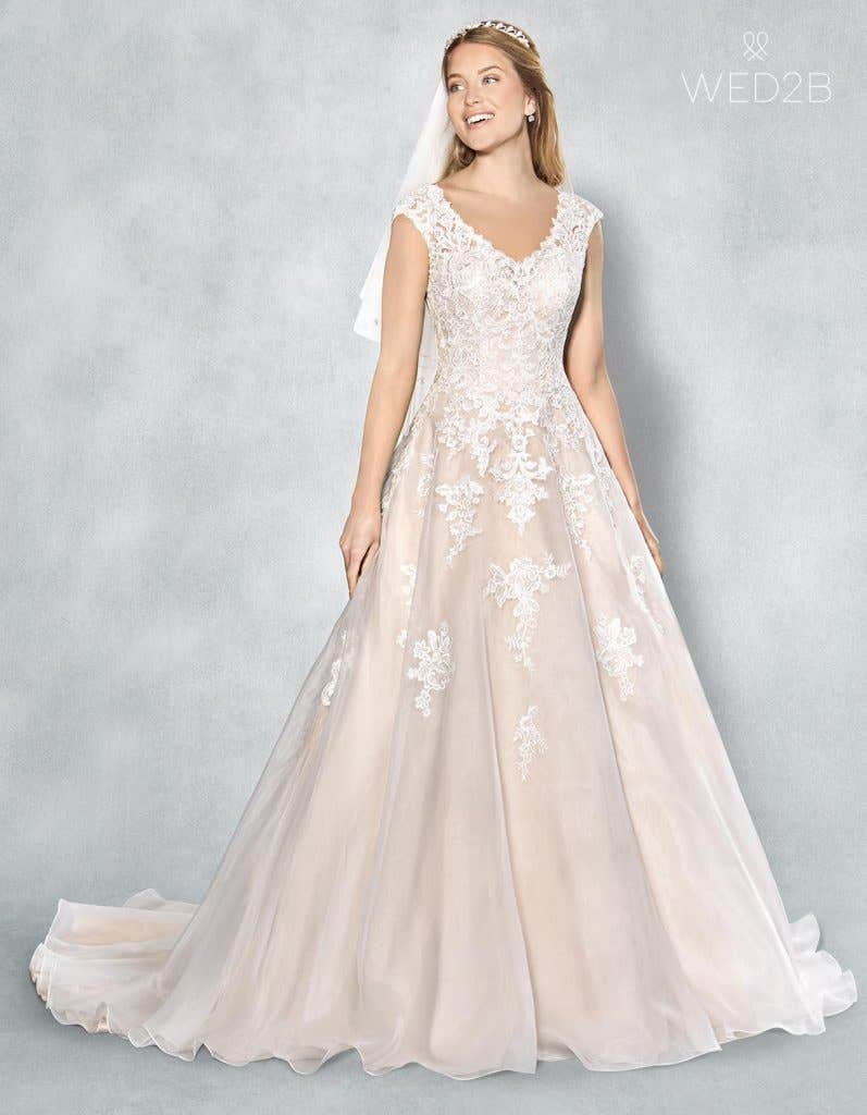 Full front shot of bridal dresses Liana