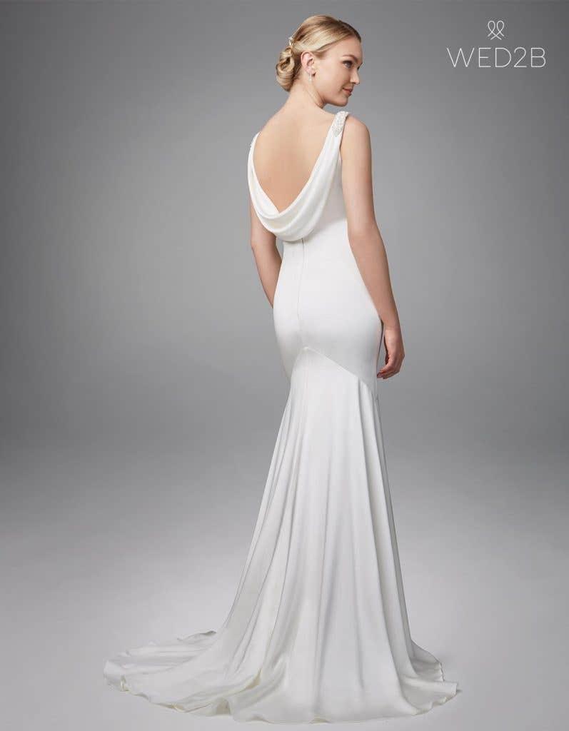 Full back shot of bridal dresses Sorcha