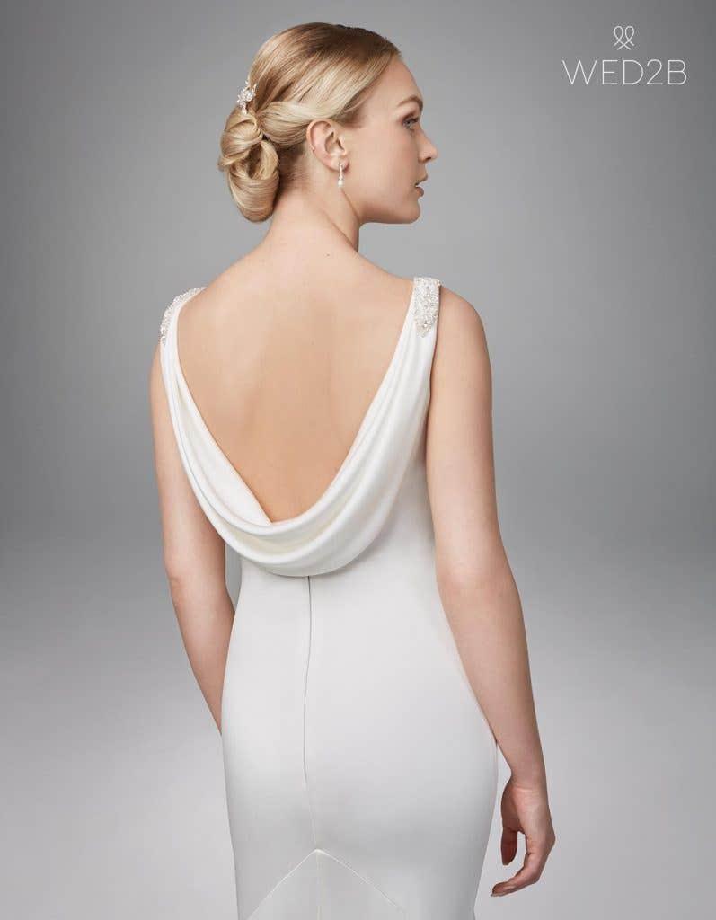 Close-up back shot of bridal dresses Sorcha