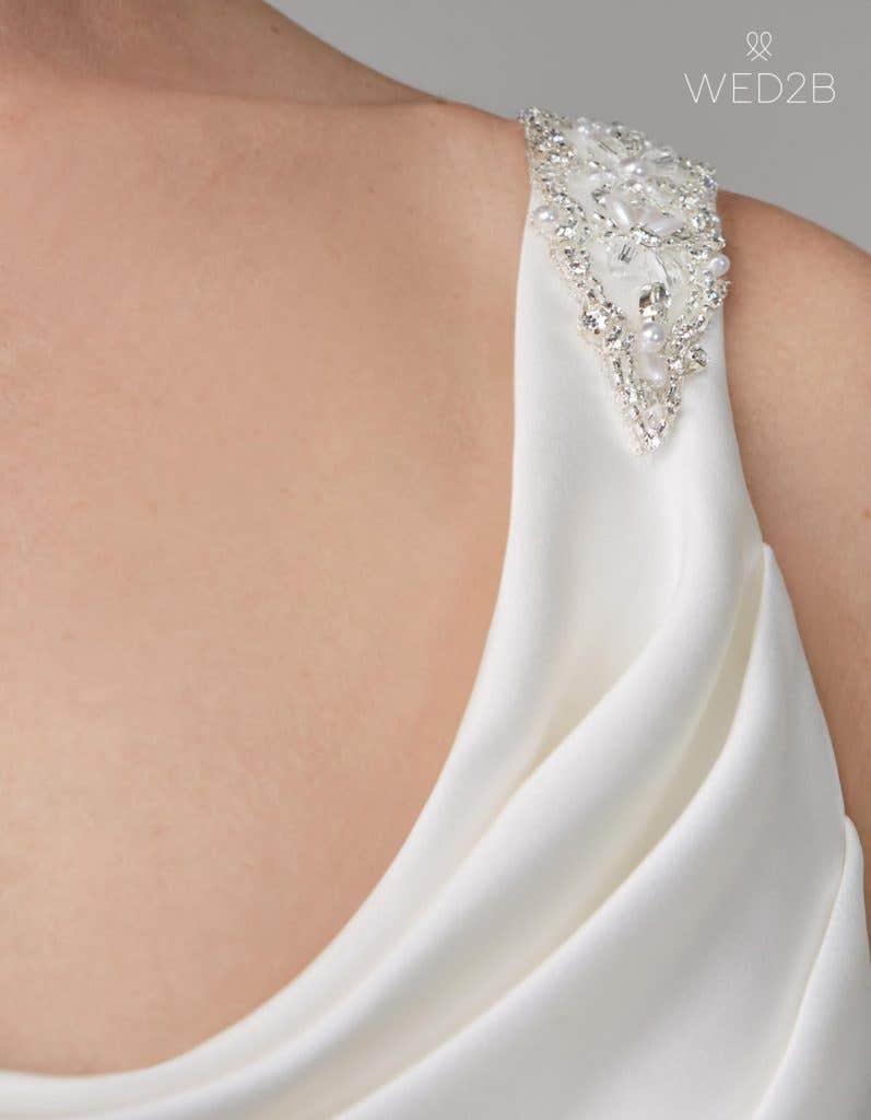 Strap detail shot of bridal dresses Sorcha