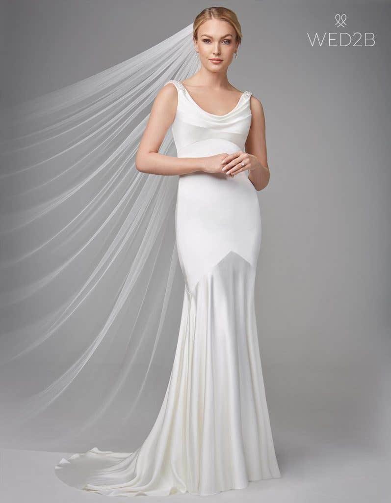 Full front shot of bridal dresses Sorcha