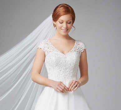 Four stunningly different princess wedding dresses