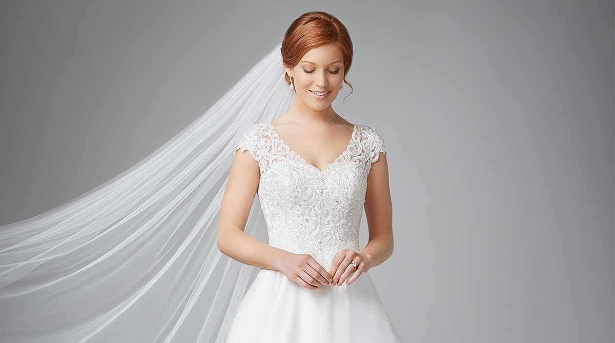 Four stunningly different princess wedding dresses