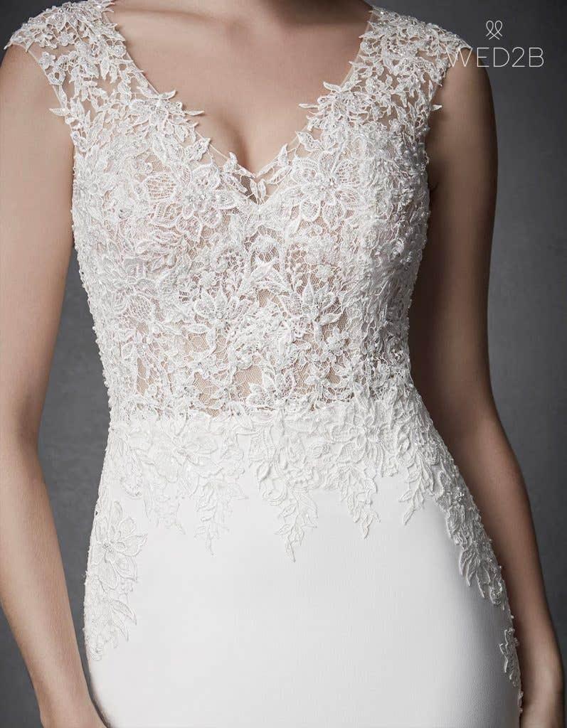 Detailed view of Archer, a unique wedding dress