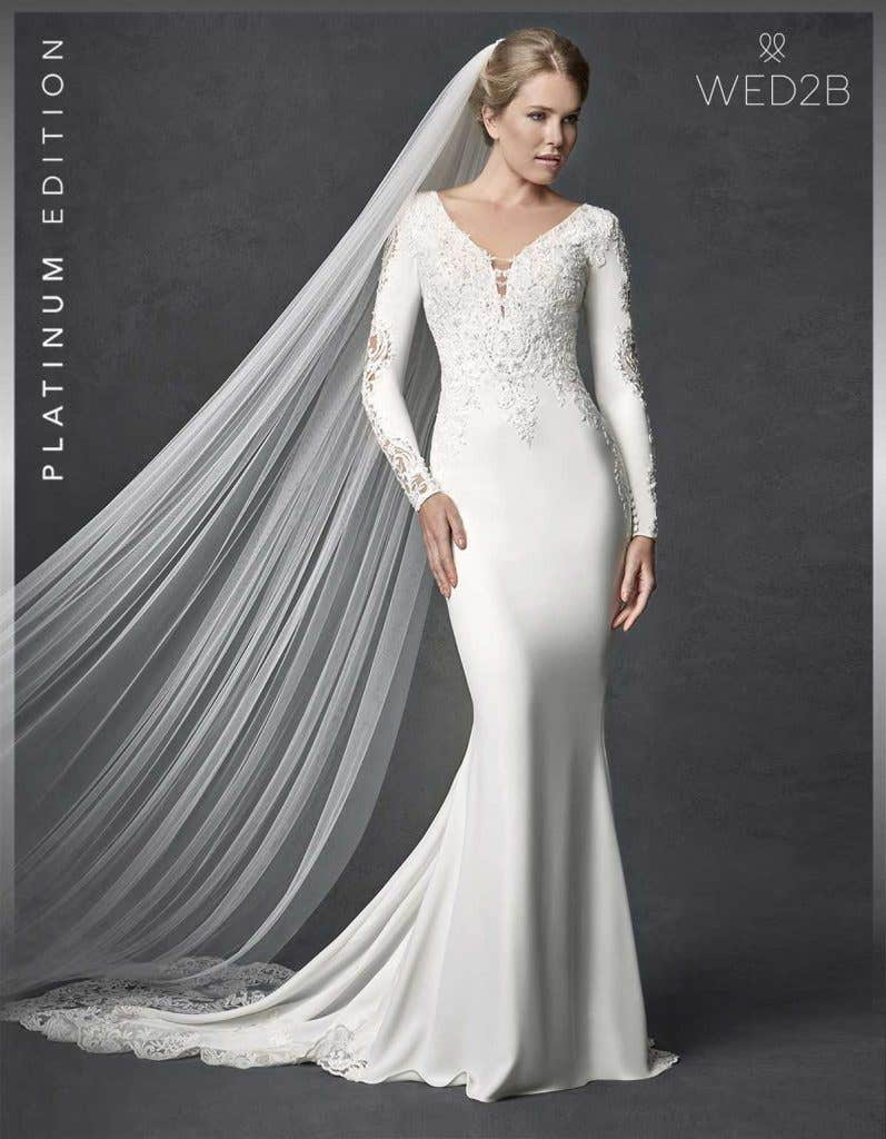 Front view of lace wedding dress Athens