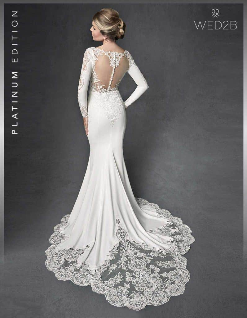 Back view of lace wedding dress Athens