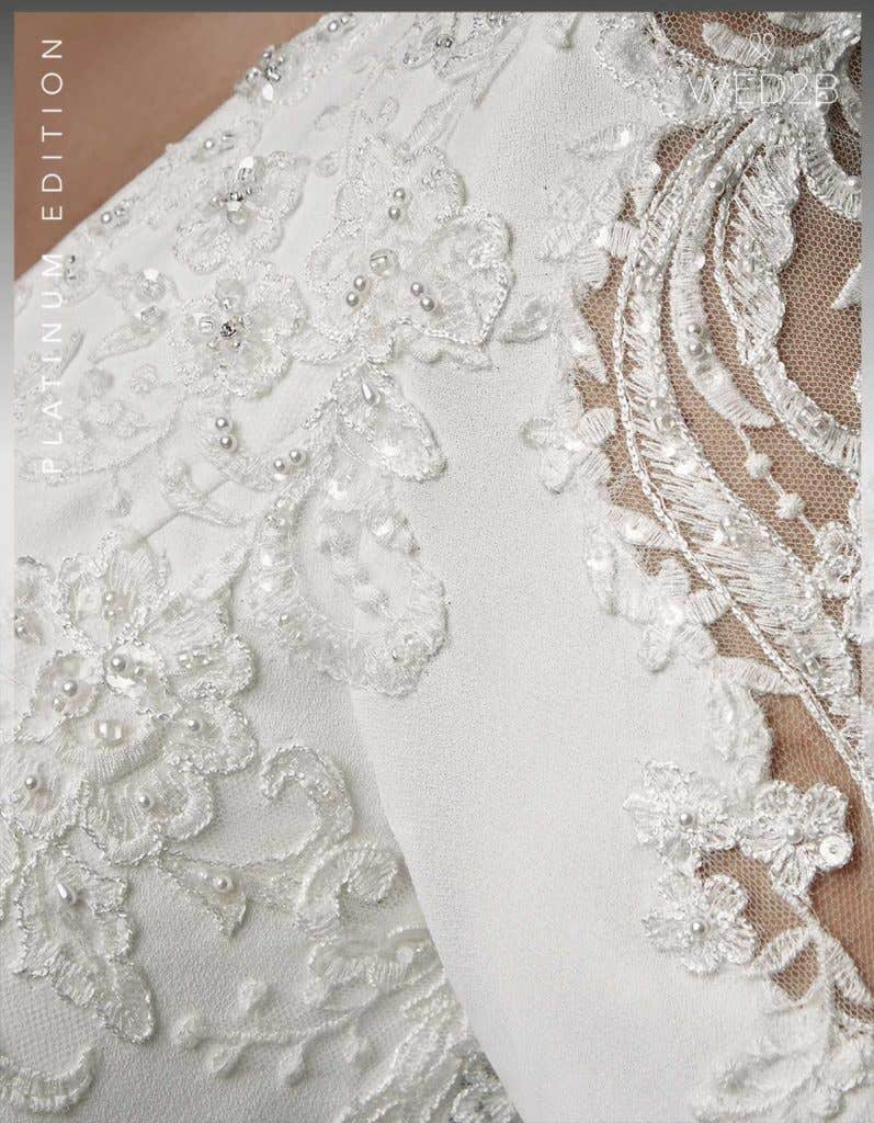 Detailed view of lace wedding dress Athens