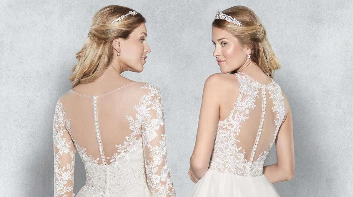 Find the perfect fit with a button back wedding dress