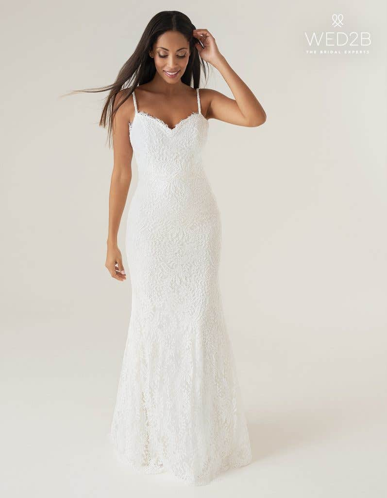 Baxter a lace wedding dress by Heidi Hudson