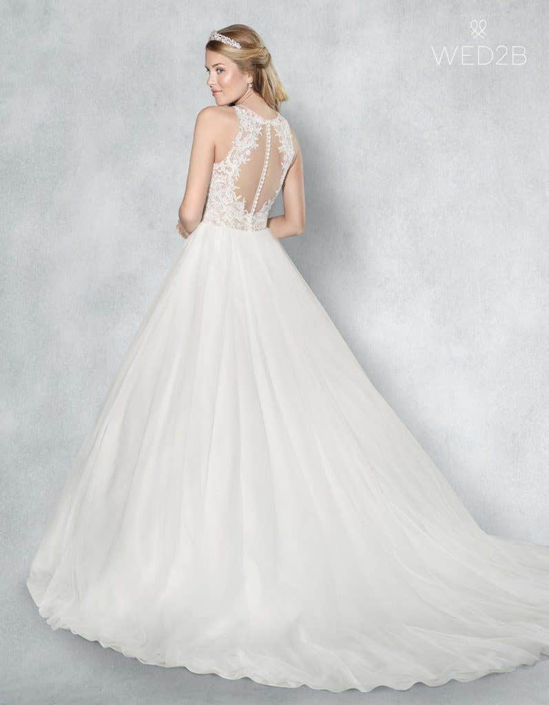 Back view of Presley, a button back wedding dress