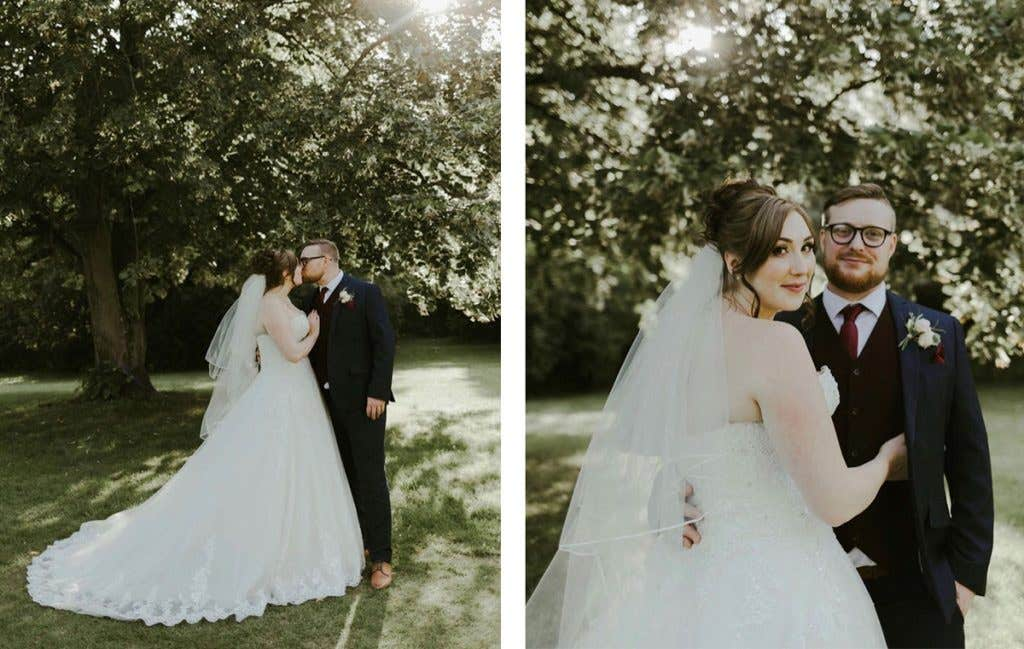 Jack and Emily on their perfect barn wedding day