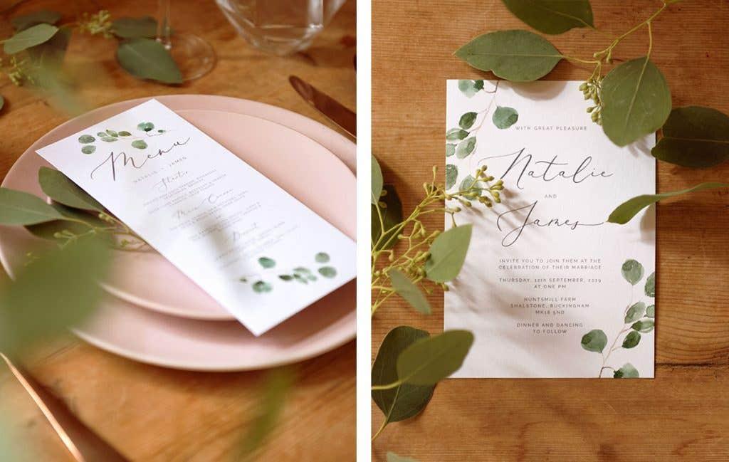 Wedding stationary perfect for a boho wedding