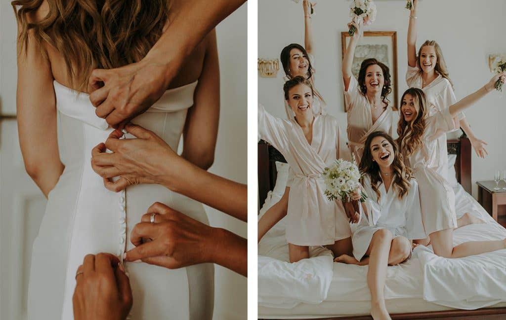 Real Bride Yolanda getting ready for her Bulgarian wedding