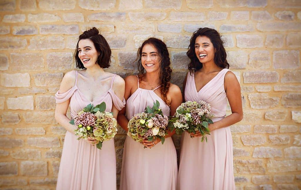 beautiful bridesmaids for a boho wedding