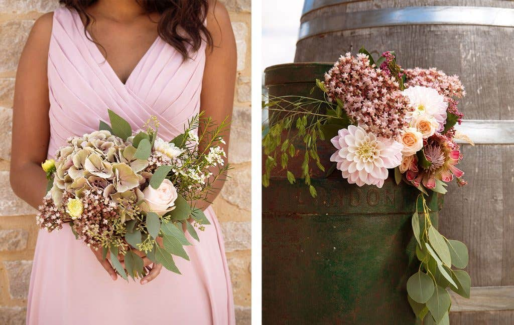 Wild and whimsical flowers for a boho wedding