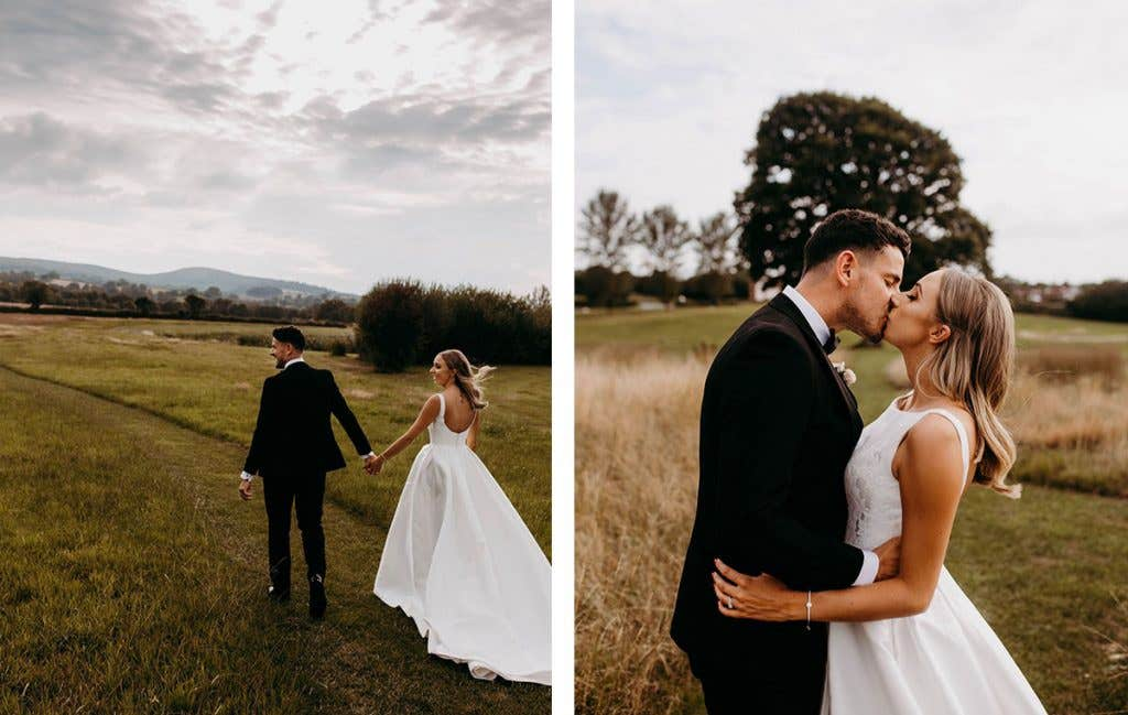 Finding the perfect dress for their Somerset wedding