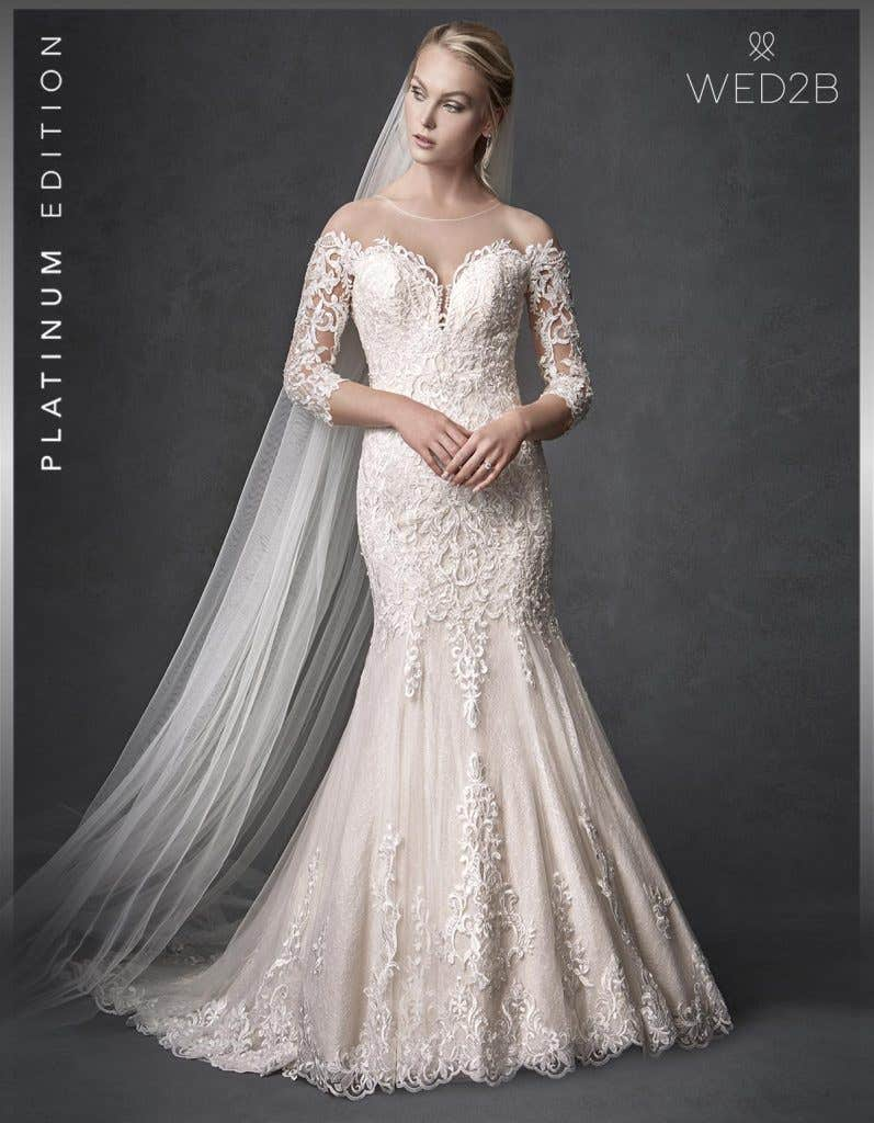 Front view of Jackson from The Signature Collection a beautiful wedding dress