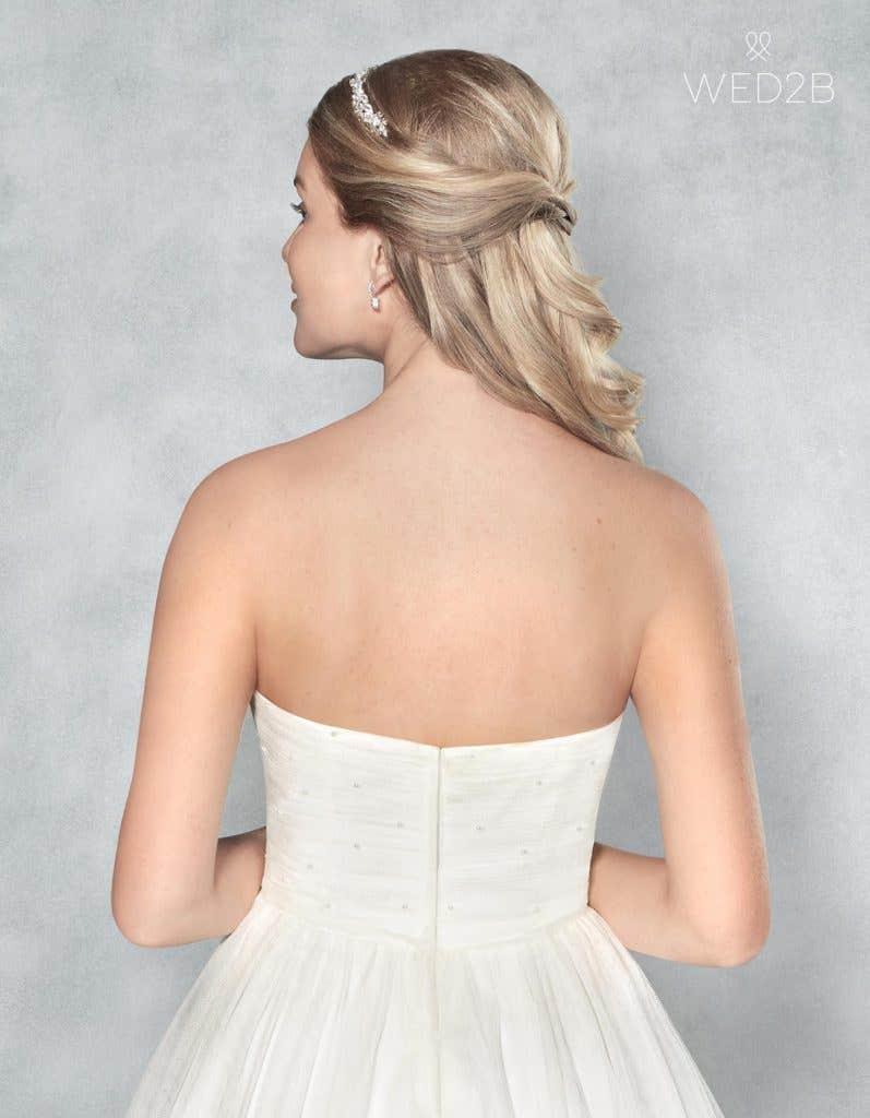 Crop back view of stunning wedding dress Lola