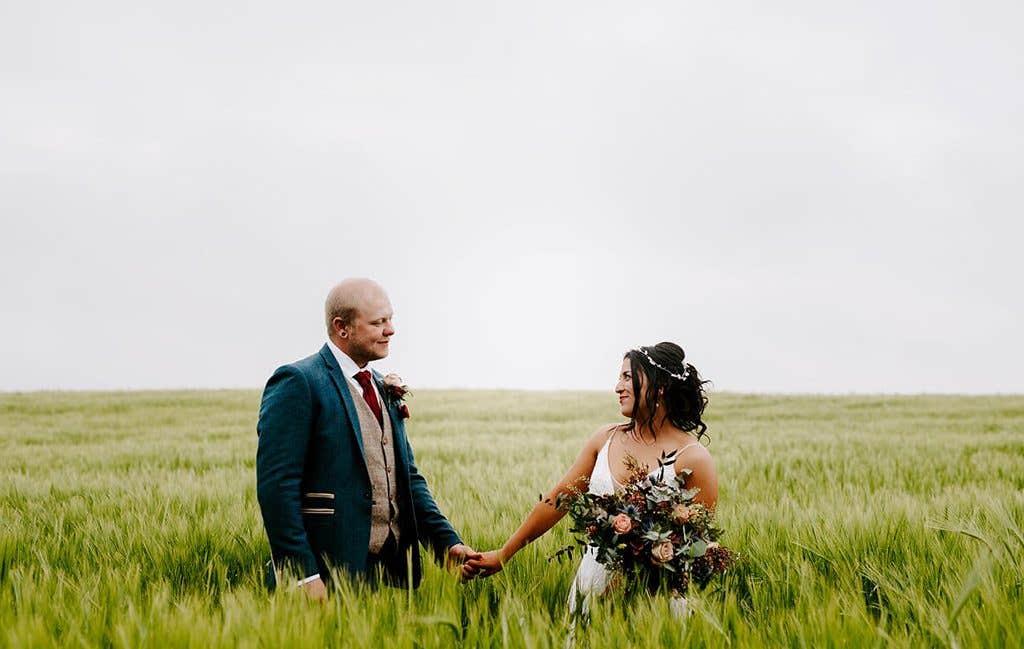 Nichola and Sam's rustic wedding