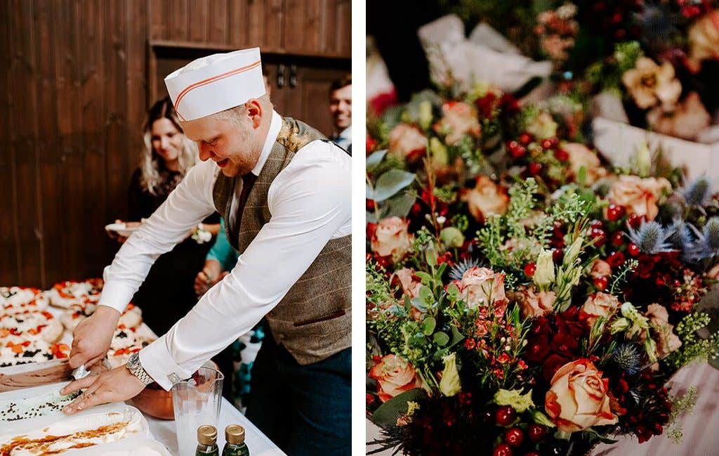 The perfect catering for a rustic wedding