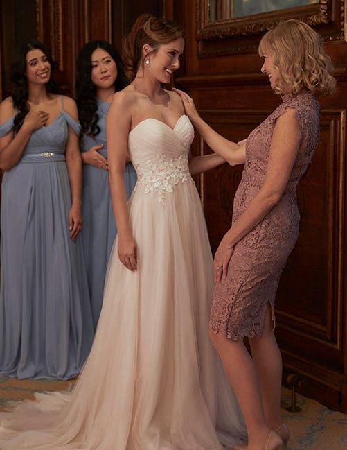 Bridesmaids dresses to suit your colour scheme at your winter wedding