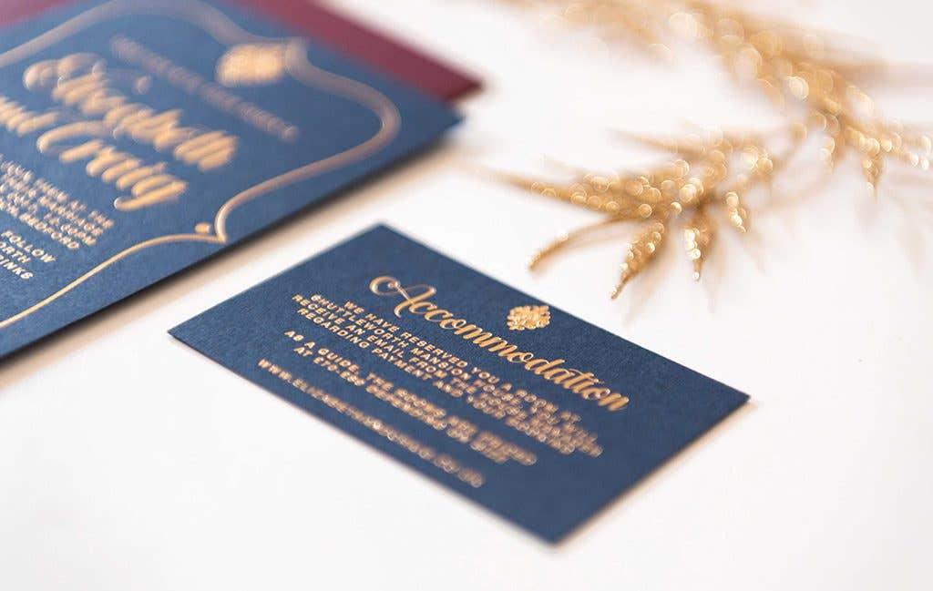 Wedding invitations for a winter wedding