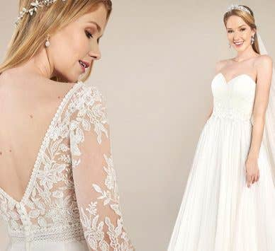Find the floaty wedding dress of your dreams