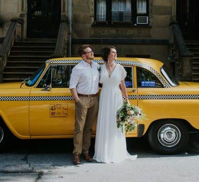 Real Weddings Belfast: Amy and Mark's stylish New York wedding