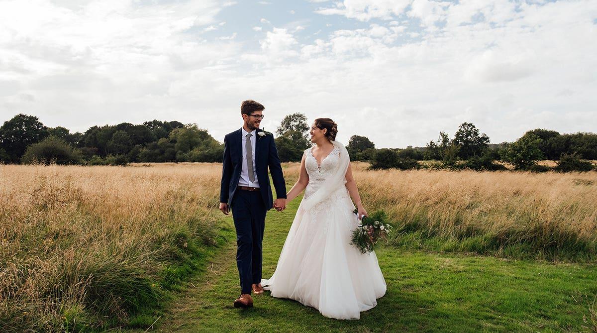 Real Weddings Brighton: Kathryn and Dan's idyllic countryside wedding