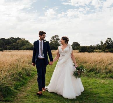 Real Weddings Brighton: Kathryn and Dan's idyllic countryside wedding