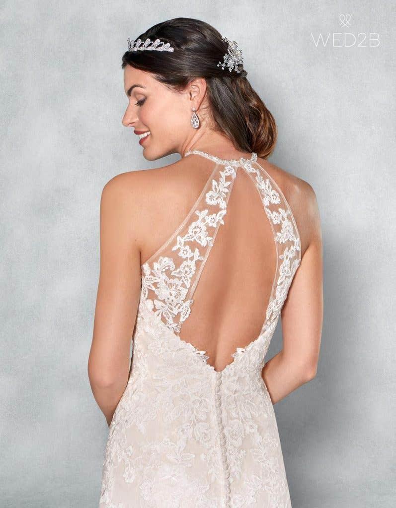 Back Crop view of romantic wedding dress Camden